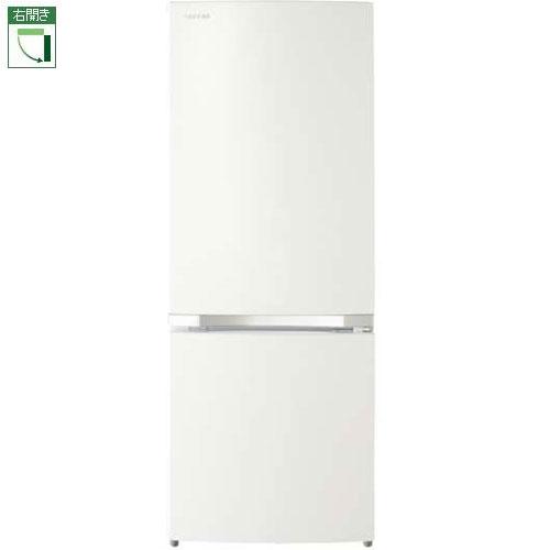 【設置】東芝 GR-P15BS-W(パールホワイト) 2ドア冷蔵庫 右開き 153L