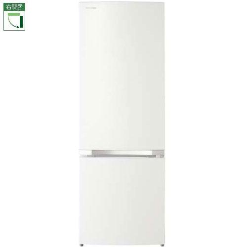 【設置+長期保証】東芝 GR-P17BS-W(パールホワイト) 2ドア冷蔵庫 右開き 170L