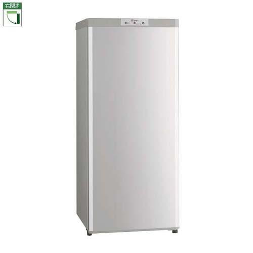 【設置】三菱 MF-U12D-S(シャイニーシルバー) Uシリーズ 1ドア冷凍庫 右開き 121L