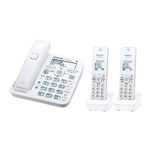 パナソニック VE-GZ51DW-W(ホワイト) RU・RU・RU デジタルコードレス電話機 子機2台付