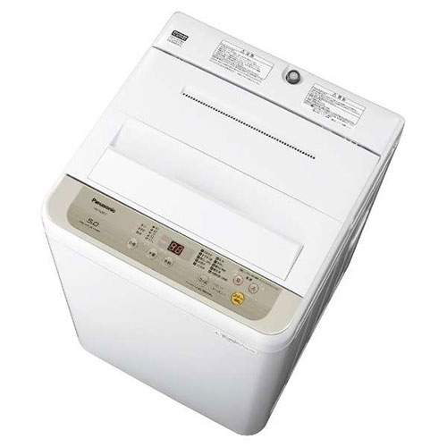 【長期保証付】パナソニック NA-F50B12-N(シャンパン) 全自動洗濯機 上開き 洗濯5kg