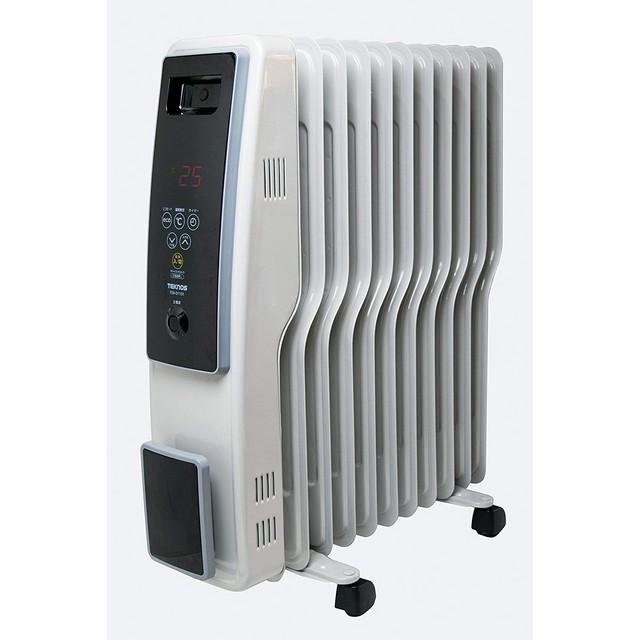テクノス TOH-D1101(グレイッシュホワイト) オイルヒーター デジタル表示 11枚フィン 1200W