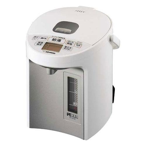 【長期保証付】象印 CV-GT22-WA(ホワイト) 優湯生(ゆうとうせい) マイコン沸とうVE電気まほうびん 2.2L