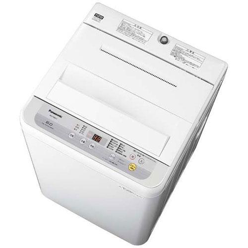 【設置】パナソニック NA-F60B12-S(シルバー) 全自動洗濯機 上開き 洗濯6kg