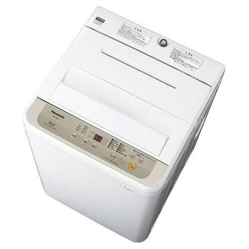 【設置】パナソニック NA-F50B12-N(シャンパン) 全自動洗濯機 上開き 洗濯5kg