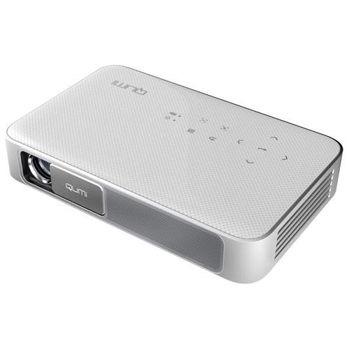 【長期保証付】AddTron Q38-WH(ホワイト) Vivitek LEDモバイルプロジェクター 600lm FULL HD