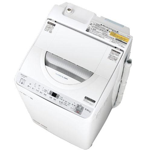 【設置+リサイクル+長期保証】シャープ ES-TX5C-S(シルバー) 全自動洗濯機 上開き 洗濯5.5kg/乾燥3.5kg