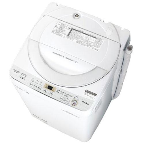 【設置】シャープ ES-GE6C-W(ホワイト) 全自動洗濯機 上開き 洗濯6kg