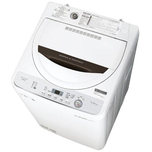 【設置+長期保証】シャープ ES-GE4C-T(ブラウン) 全自動洗濯機 上開き 洗濯4.5kg