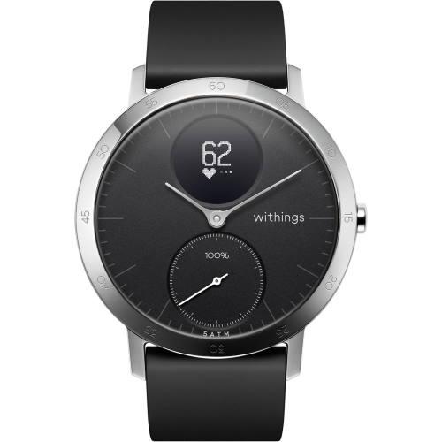 Withings HWA03-40BLACK-ALL-JP(Black) Steel HRスマートウォッチ 40mm