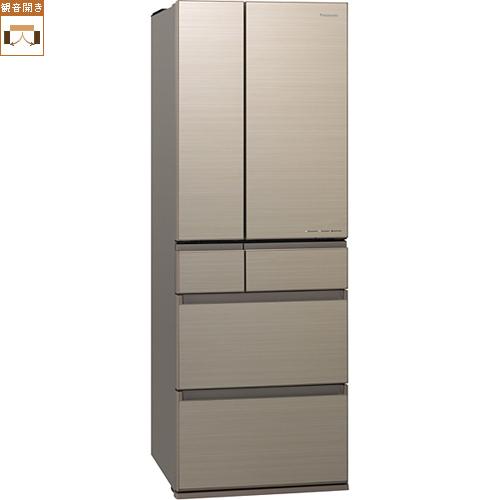 【標準設置料金込】【送料無料】パナソニック NR-F506HPX-N(アルベロゴールド) 6ドア冷蔵庫 観音開き 500L[代引・リボ・分割・ボーナス払い不可]
