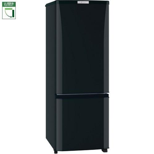 【設置+リサイクル】三菱 MR-P17D-B(サファイアブラック) Pシリーズ 2ドア冷蔵庫 右開き 168L