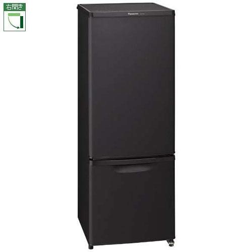 【設置+リサイクル】パナソニック NR-B17BW-T(マットビターブラウン) 2ドア冷蔵庫 右開き 168L