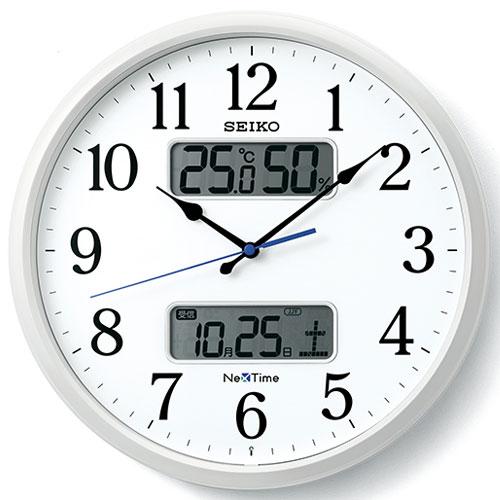 セイコー ZS250W ネクスタイムシリーズ 電波掛け時計