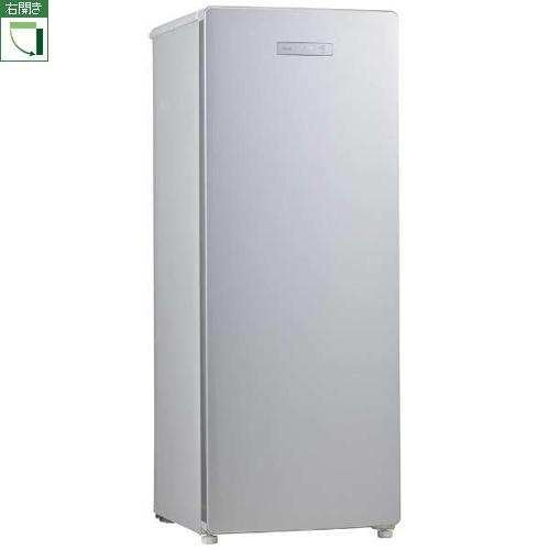 【設置+リサイクル】ハイアール JF-NUF153B-S(シルバー) 1ドア冷凍庫 右開き 153L