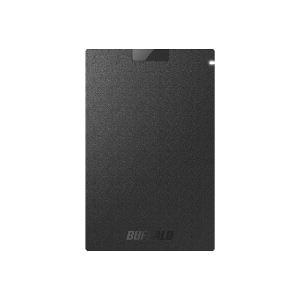 バッファロー SSD-PG960U3-BA(ブラック) ポータブルSSD 960GB USB3.1(Gen1) /3.0/2.0接続 耐衝撃