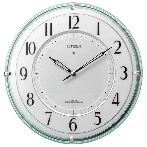 リズム時計 4MY851-005 電波掛け時計