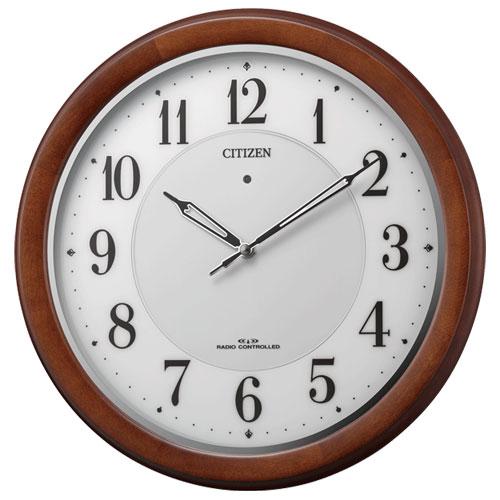 リズム時計 4MY852-006 電波掛け時計
