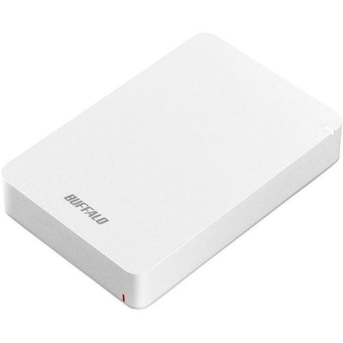 バッファロー HD-PGF4.0U3-GWHA(ホワイト) ポータブルHDD 4TB USB3.1(Gen1) /3.0/2.0接続 耐衝撃