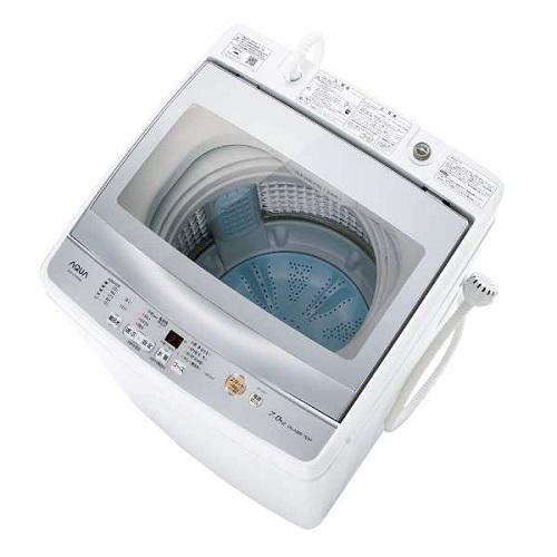 【設置】アクア AQW-GP70H-W(ホワイト) 全自動洗濯機 上開き 洗濯7kg 風呂水ポンプ搭載