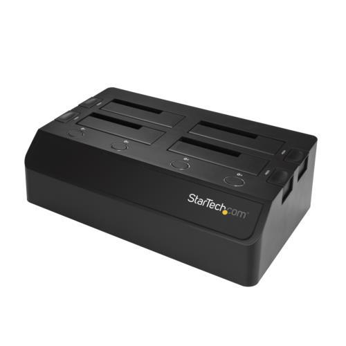 StarTech SDOCK4U313(ブラック) 4ベイ SATA SSD/HDDドッキングステーション