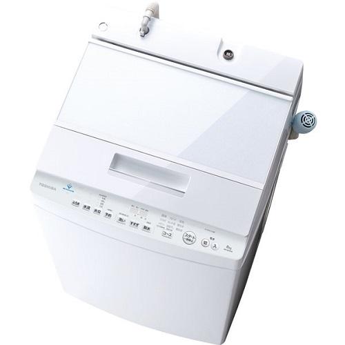 東芝 AW-8D9-W(グランホワイト) 全自動洗濯機 上開き 洗濯8kg/乾燥3kg