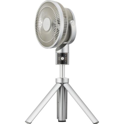 【長期保証付】ドウシシャ ULKF-1201D-SI(シルバー) 20cm DC リビング扇風機 カモメファン リモコン付