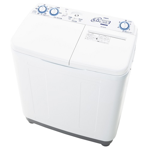 アクア AQW-N60-W(ホワイト) 2槽式洗濯機 洗濯6kg/脱水6kg