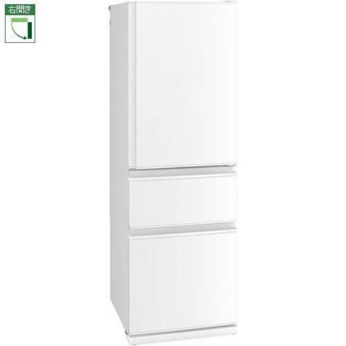 【標準設置料金込】三菱 MR-CD40E-W(パールホワイト) CDシリーズ 3ドア冷蔵庫 右開き 401L[代引・リボ・分割・ボーナス払い不可]