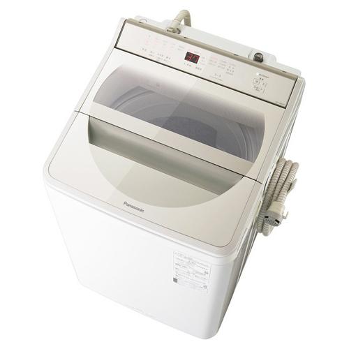 【設置+リサイクル+長期保証】パナソニック NA-FA80H8-N(シャンパン) 全自動洗濯機 上開き 洗濯8kg