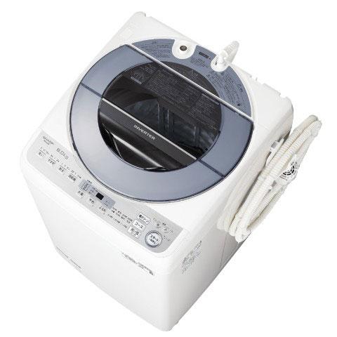 【長期保証付】シャープ ES-GV8D-S(シルバー) 全自動洗濯機 上開き 洗濯8kg