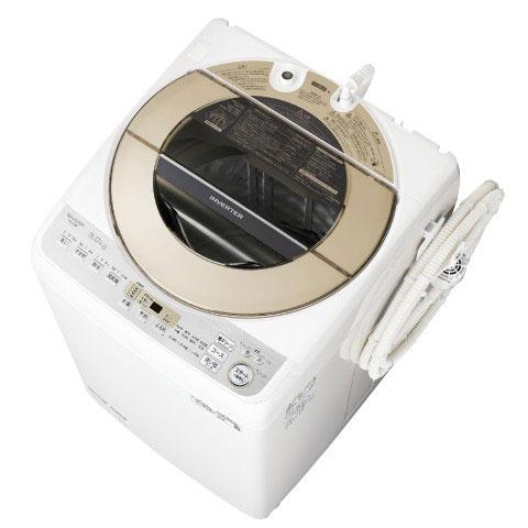 【設置+リサイクル(別途料金)+長期保証】シャープ ES-GV9D-N(ゴールド) 全自動洗濯機 上開き 洗濯9kg
