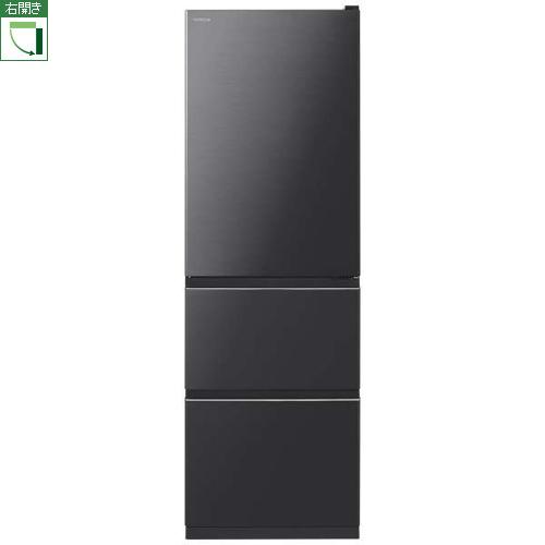 【標準設置料金込】【送料無料】日立 R-V38KV-K(ブリリアントブラック) 3ドア冷蔵庫 右開き 375L[代引・リボ・分割・ボーナス払い不可]