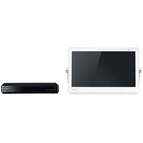 パナソニック UN-15CTD9-W(ホワイト) プライベートビエラ BDプレーヤー/HDDレコーダー付ポータブルテレビ 15V型 500GB