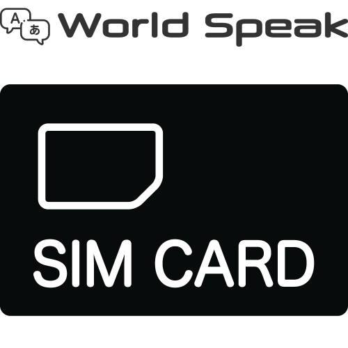 キングジム World Speak(ワールドスピーク) 専用 国内専用SIMカード 2年間通信使い放題 JS-48