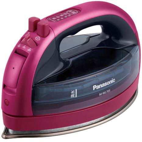 【長期保証付】パナソニック NI-WL705-P(ピンク) カルル コードレススチームアイロン