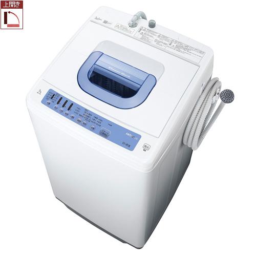 【設置+リサイクル(別途料金)】日立 NW-T76-A(ブルー) 全自動洗濯機 白い約束 上開き 洗濯7kg