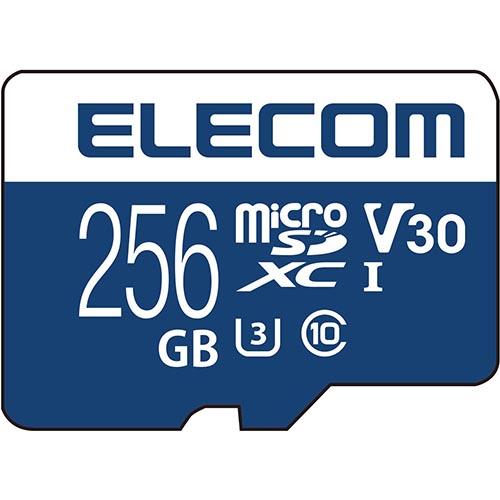 エレコム MF-MS256GU13V3R MicroSDXCカード UHS-I U3 80MB/s 256GB