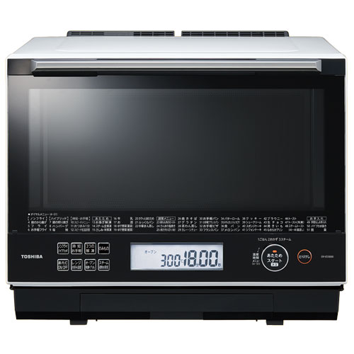 【長期保証付】東芝 ER-VD3000-W(グランホワイト) 石窯ドーム 過熱水蒸気オーブンレンジ 30L