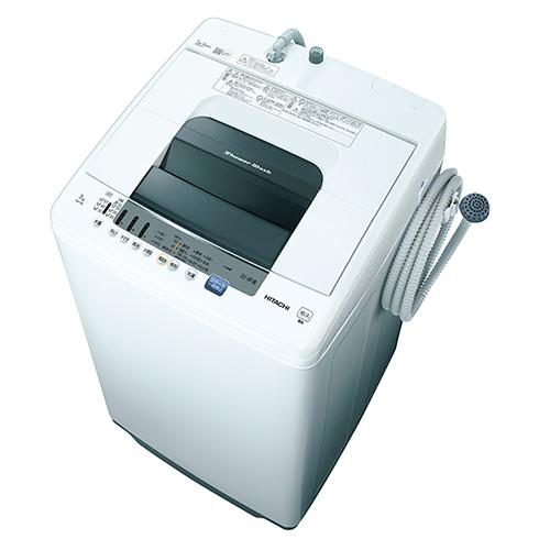 【設置+リサイクル+長期保証】日立 NW-70E-W(ピュアホワイト) 全自動洗濯機 白い約束 洗濯7kg 風脱水