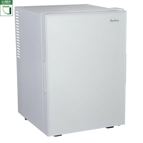【設置+リサイクル+長期保証】三ツ星貿易 ML-40G-W(ホワイト) 1ドア冷蔵庫 右開き 40L