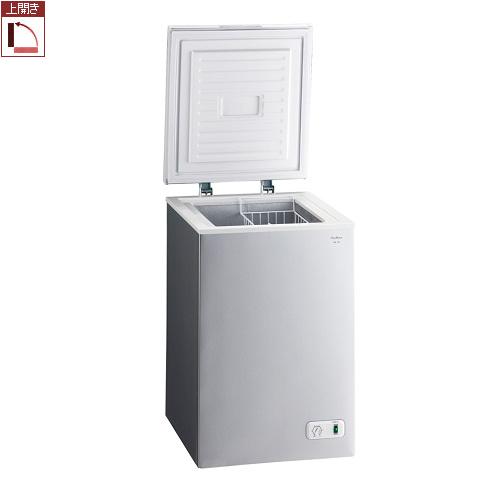 【設置+長期保証】三ツ星貿易 KM-100(シルバーグレー) 1ドア冷凍庫 上開き 100L