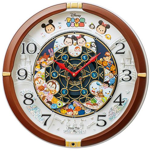 セイコー FW588B(茶メタリック塗装) Disney クオーツ掛け時計