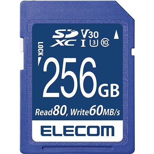 エレコム MF-FS256GU13V3R SDXCカード UHS-I U3 80MB/s 256GB