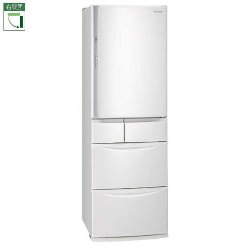 【標準設置料金込】パナソニック NR-EV41S5-W(ハーモニーホワイト) 5ドア冷蔵庫 右開き 411L[代引・リボ・分割・ボーナス払い不可]
