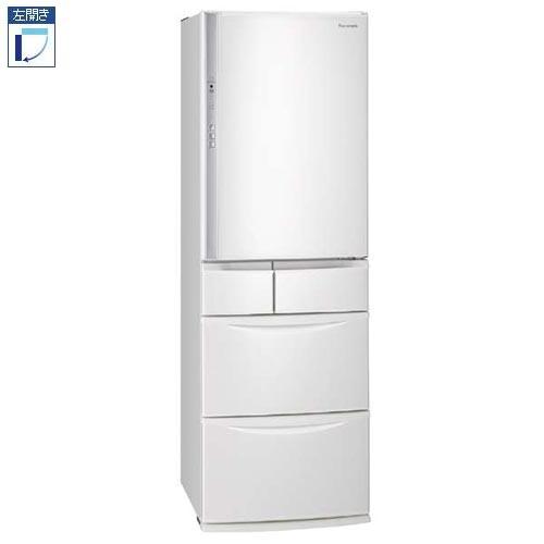 【標準設置料金込】【長期保証付】パナソニック NR-EV41S5L-W(ハーモニーホワイト) 5ドア冷蔵庫 左開き 411L[代引・リボ・分割・ボーナス払い不可]