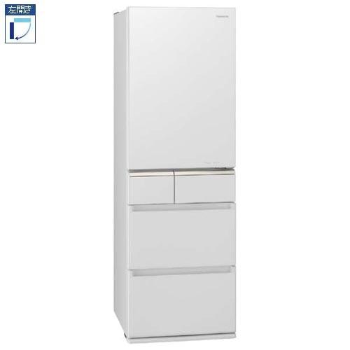 【標準設置料金込】【送料無料】パナソニック NR-E415PVL-W(スノーホワイト) 5ドア冷蔵庫 左開き 406L[代引・リボ・分割・ボーナス払い不可]