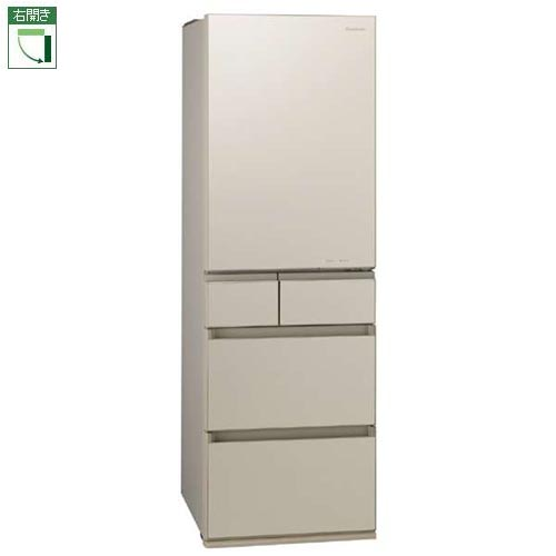【標準設置料金込】【送料無料】パナソニック NR-E455PX-N(サテンゴールド) 5ドア冷蔵庫 右開き 450L[代引・リボ・分割・ボーナス払い不可]