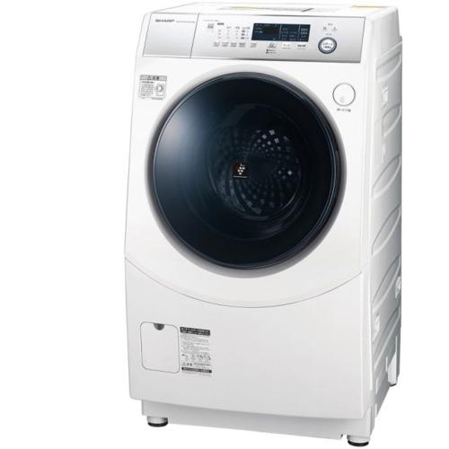 【標準設置料金込】【長期保証付】【送料無料】シャープ ES-H10D-WL(ホワイト) ドラム式洗濯乾燥機 左開き 洗濯10kg/乾燥6kg[代引・リボ・分割・ボーナス払い不可]