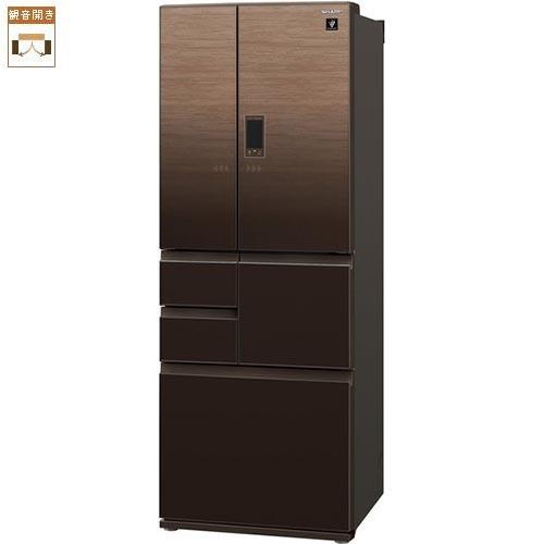 【標準設置料金込】シャープ SJ-AF50F-T(ブラウン系) 6ドア冷蔵庫 観音開き 502L[代引・リボ・分割・ボーナス払い不可]